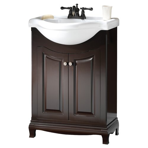 "Foremost Palermo 25.63"" Euro Bath Vanity Set with China Top"