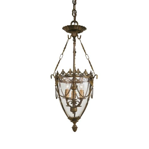 Metropolitan by Minka Vintage 3 Light Foyer Pendant