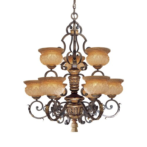 Metropolitan by Minka Habana 9 Light Chandelier