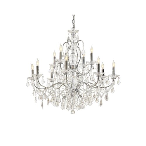 Metropolitan by Minka Crystal 12 Light Chandelier