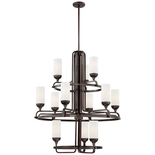 Industrial 12 Light Chandelier