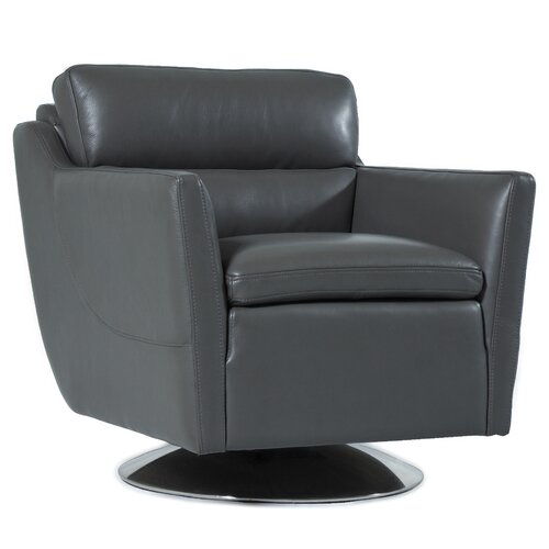 Hokku Designs Leo Top Grain Leather Chair