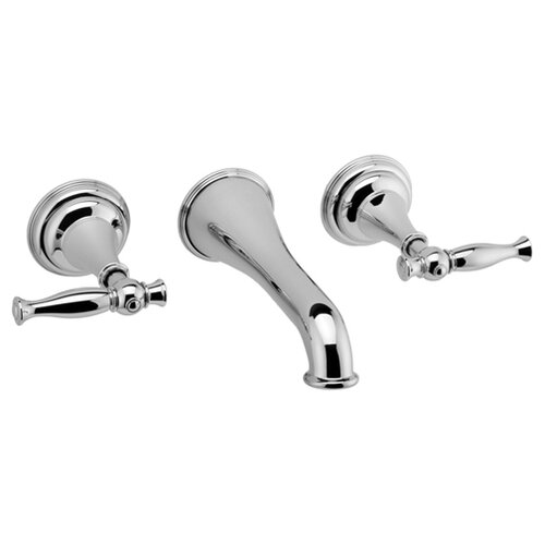 Graff Lauren Wall Mounted Bathroom Faucet with Double Lever Handles