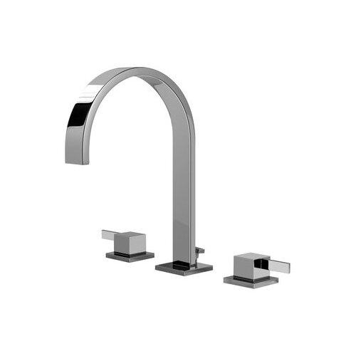 Qubic Double Handle Widespread Bathroom Faucet