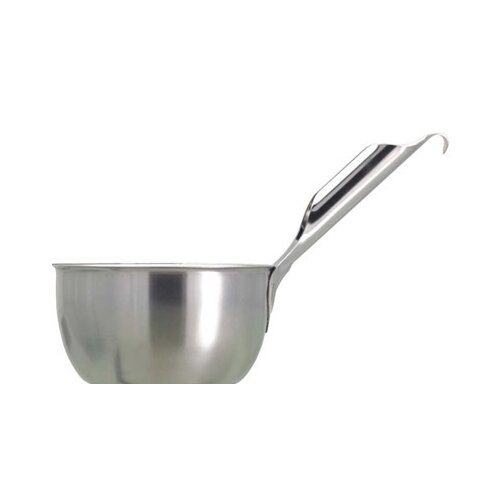 Scooping Bowl with Slanted Handle in Stainless Steel