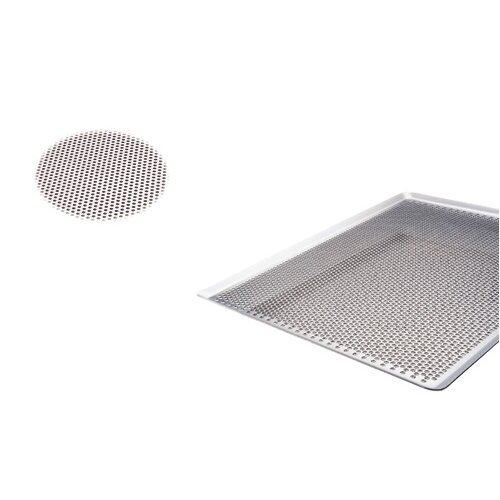 Paderno World Cuisine Aluminum 45 Degree Sided Perforated Baking Sheet