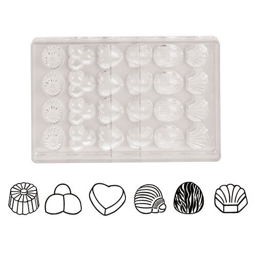 Paderno World Cuisine Imprint Chocolate Molds