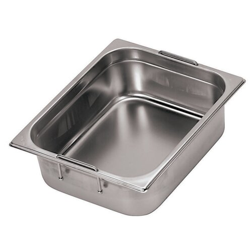 Paderno World Cuisine Hotel Pan with Retractable Handles - 1/4 in Silver