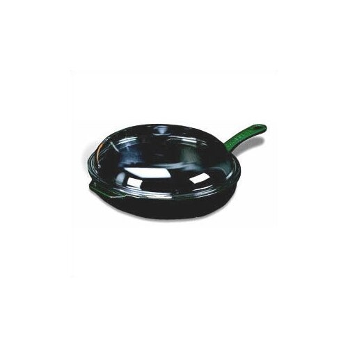"Paderno World Cuisine Cast Iron 11"" Non-Stick Skillet with Lid"