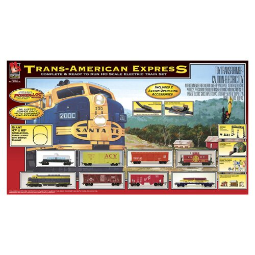 Life-Like Trans-American Express Train Set