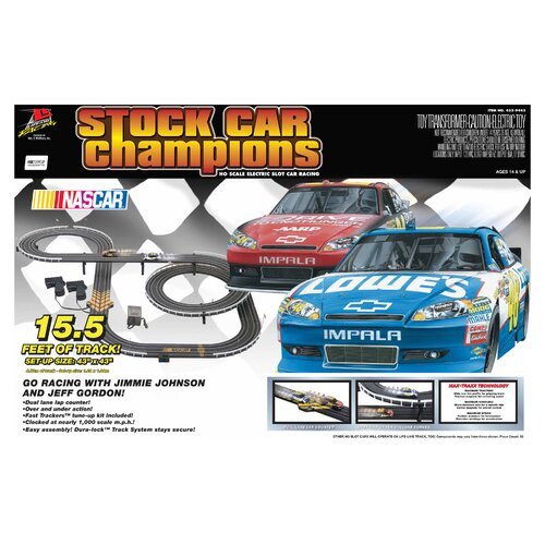 Life-Like Nascar Stock Car Champions Tracks and Playset