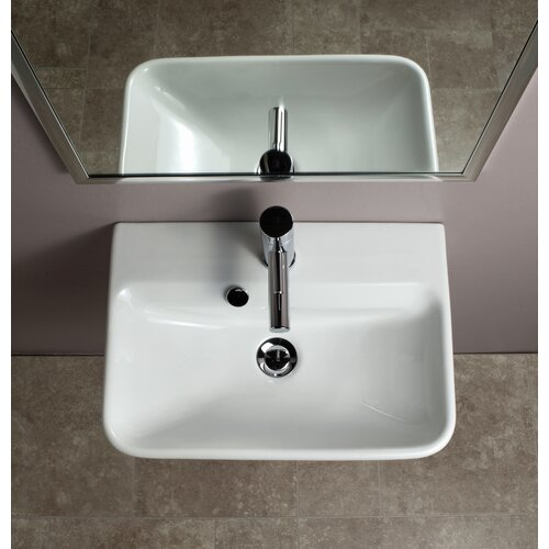 Bissonnet Emma Semi Pedestal Ceramic Bathroom Sink & Reviews Wayfair