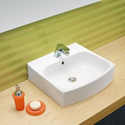 Universal Club Porcelain Bathroom Sink with Overflow