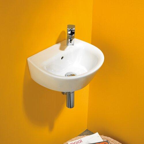 Universal Jazz 40 Porcelain Bathroom Sink with Overflow