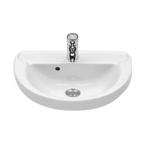 Universal Marina Porcelain Wall Mount Bathroom Sink with Overflow