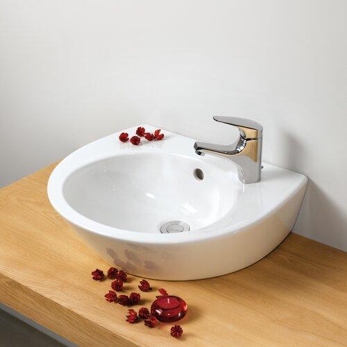 Universal Pop 50 Porcelain Bathroom Sink with Overflow