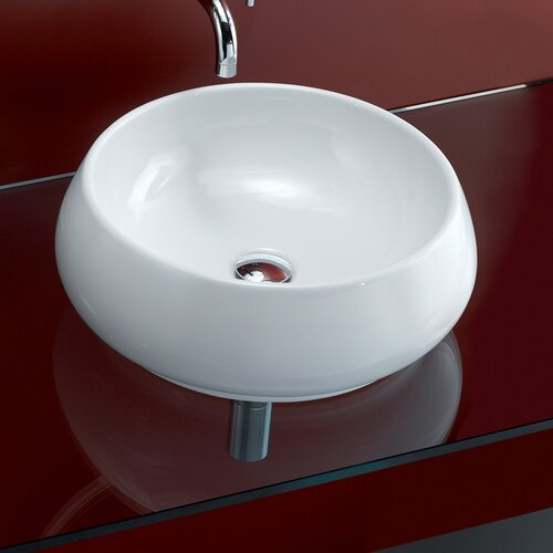 Area Boutique Tulip Porcelain Vessel Bathroom Sink with Overflow