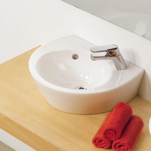 Universal Pop 36 Porcelain Bathroom Sink with Overflow