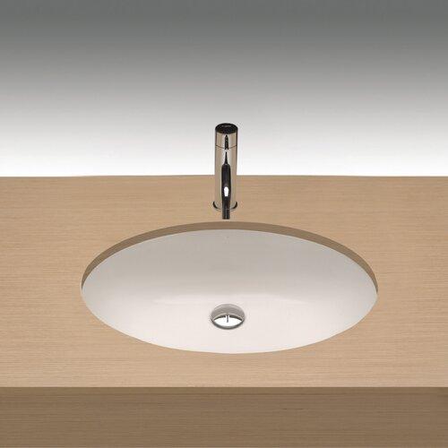 Universal Egeo Porcelain Undermount Bathroom Sink with Overflow