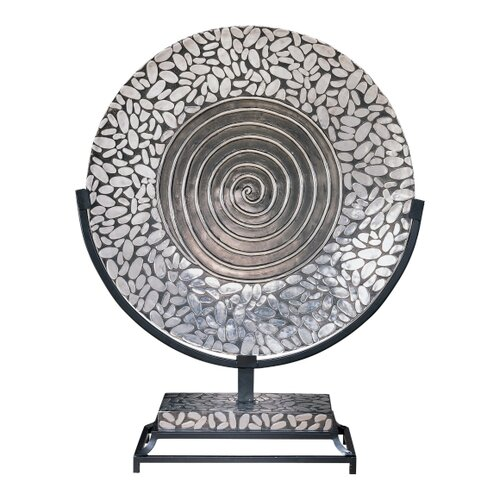 Minka Ambience Charger Plate in Silver and Black