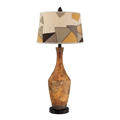 "Minka Ambience 32.5"" H 1 Light Painted Ceramic Table Lamp"