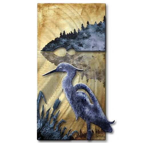 All My Walls Blue Heron Wall Décor