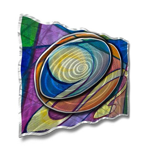 All My Walls 'Radiating Ripples' by Ash Carl Original Painting on Metal Plaque