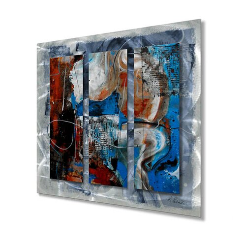 All My Walls 'Opposites Attract' by Ruth Palmer Original Painting on Metal Plaque