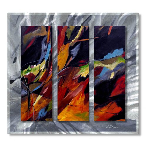 All My Walls 'Colors Dance' by Ruth Palmer Original Painting on Metal Plaque