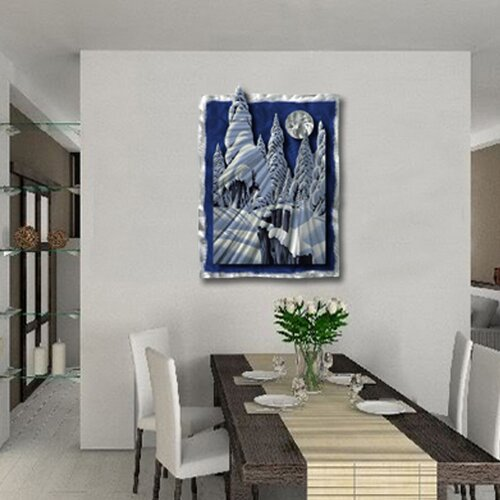 Moonlit Forest Contemporary Wall Art - 31.5