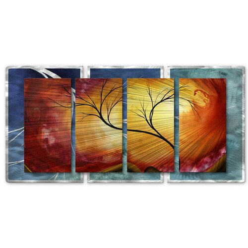 All My Walls 'Celestial Warmth II' by Megan Duncanson Original Painting on Metal Plaque
