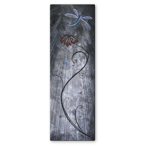 'Dragonfly' by Megan Duncanson Original Painting on Metal Plaque