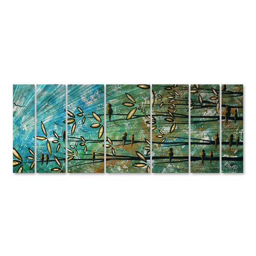 'All Shapes and Sizes' by Megan Duncanson 7 Piece Original Painting on Metal Plaque Set ...