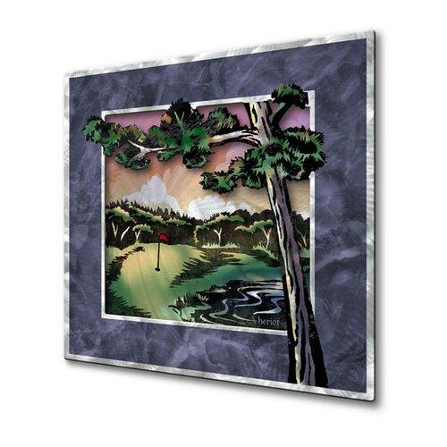 All My Walls 'Split Rock Light House' by Josh Heriot Original Painting on Metal Plaque