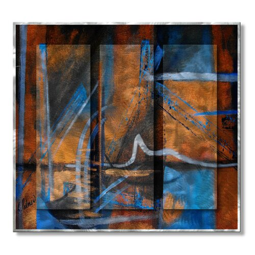 All My Walls 'Merriment' by Ruth Palmer Original Painting on Metal Plaque