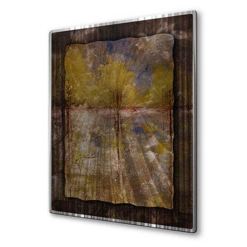 All My Walls 'Tall Tier Texture' by Ruth Palmer Original Painting on Metal Plaque