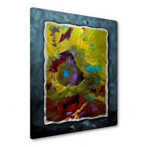 All My Walls 'Polarization' by Ruth Palmer Original Painting on Metal Plaque