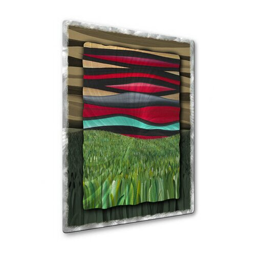All My Walls 'Beyond The Fields' by Jerry Clovis Original Painting on Metal Plaque