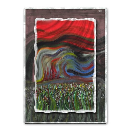 'Beyond The Grass II' by Jerry Clovis Original Painting on Metal Plaque