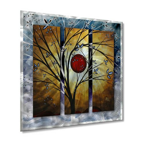All My Walls 'Blossoms' by Megan Duncanson Original Painting on Metal Plaque