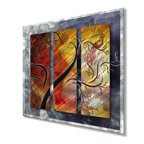 All My Walls 'Golden Sunrise' by Megan Duncanson Original Painting on Metal Plaque