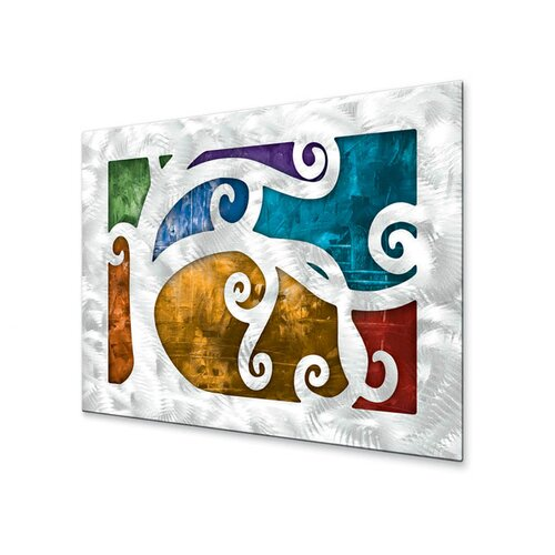 All My Walls 'Standing Out' by Megan Duncanson Original Painting on Metal Plaque