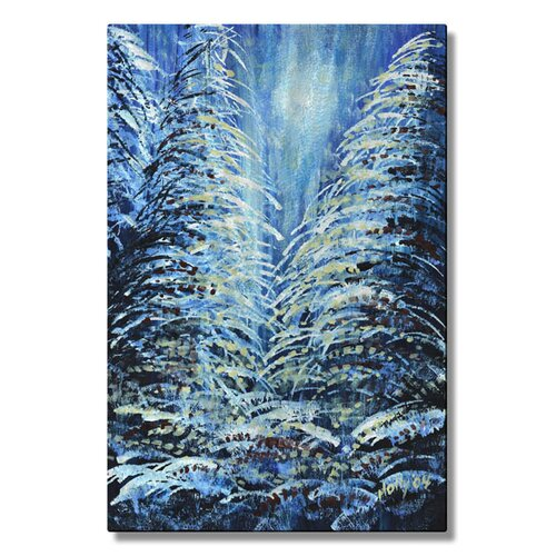 'Tims Winter Forest' by Holly Carmichael Original Painting on Metal Plaque