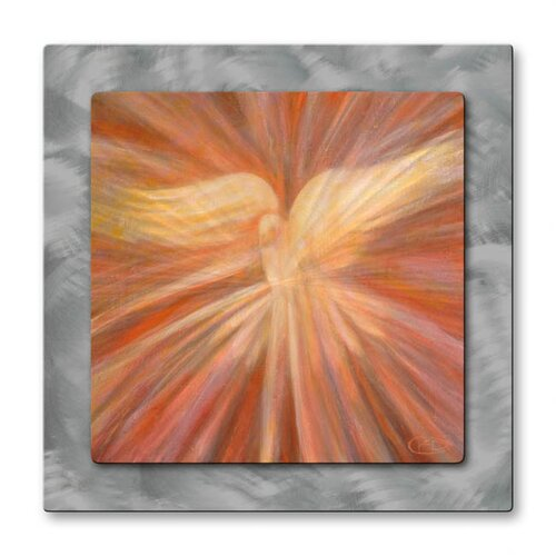 'Holy Spirit Appearing as a Dove' by Kip Decker Original Painting on Metal Plaque