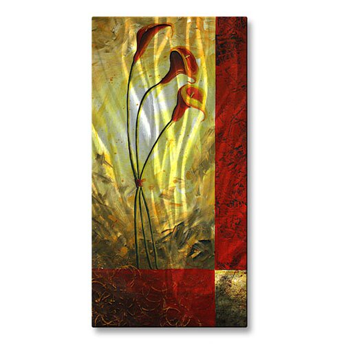 'Lilly Trio' by Megan Duncanson Original Painting on Metal Plaque