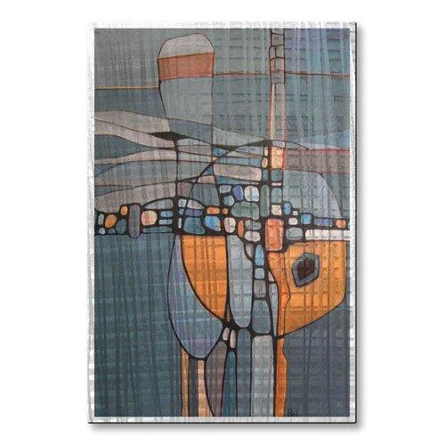 'Intriguing Journey' by Lili Vanderlaan Original Painting on Metal Plaque