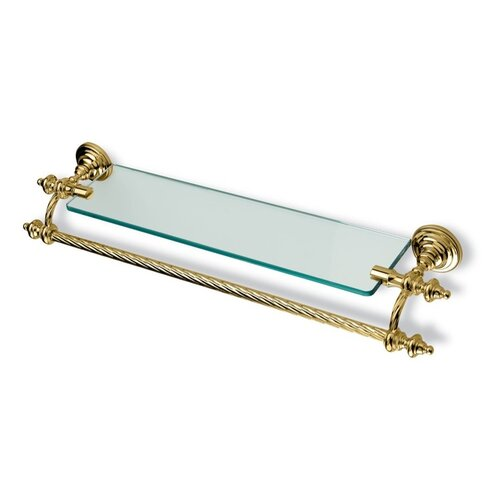 "Stilhaus by Nameeks Giunone 27.6"" Wall Mounted Classic Style Glass Shelf with Towel Bar"