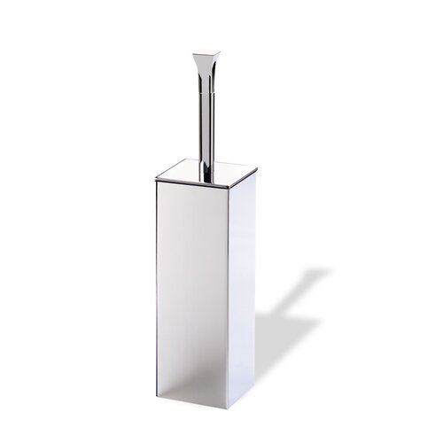 Stilhaus by Nameeks Prisma Free Standing Classic Style Toilet Brush Holder in Chrome