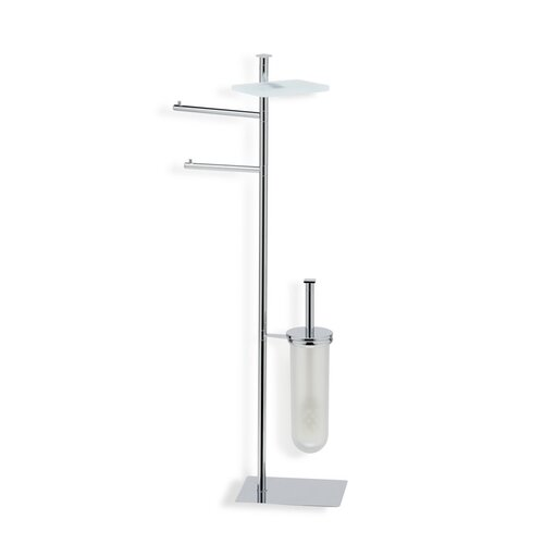 Stilhaus by Nameeks Quid Free Standing Four Function Bathroom Butler in Chrome
