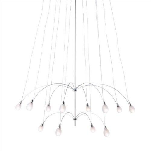 LBL Lighting TwiLight Glass Teardrop 12 Light Chandelier